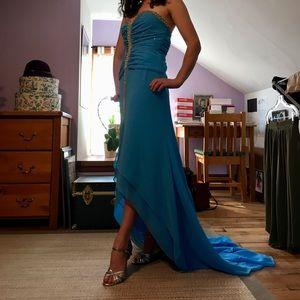 Sky blue Posh Precious prom dress
